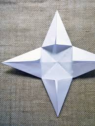 Fold Cut Paper To Form Star