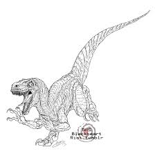 Velociraptor Coloring Page Download Pages Drawing