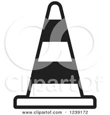 Black And White Road Construction Traffic Cone by Lal Perera