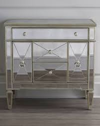 Hayworth Mirrored 3 Drawer Dresser by Amelie Small Mirrored Chest Nightstands Small Mirrors And Bedrooms