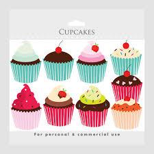 Cupcakes clipart cupcake clip art digital clipart for scrapbookings cakes bakery
