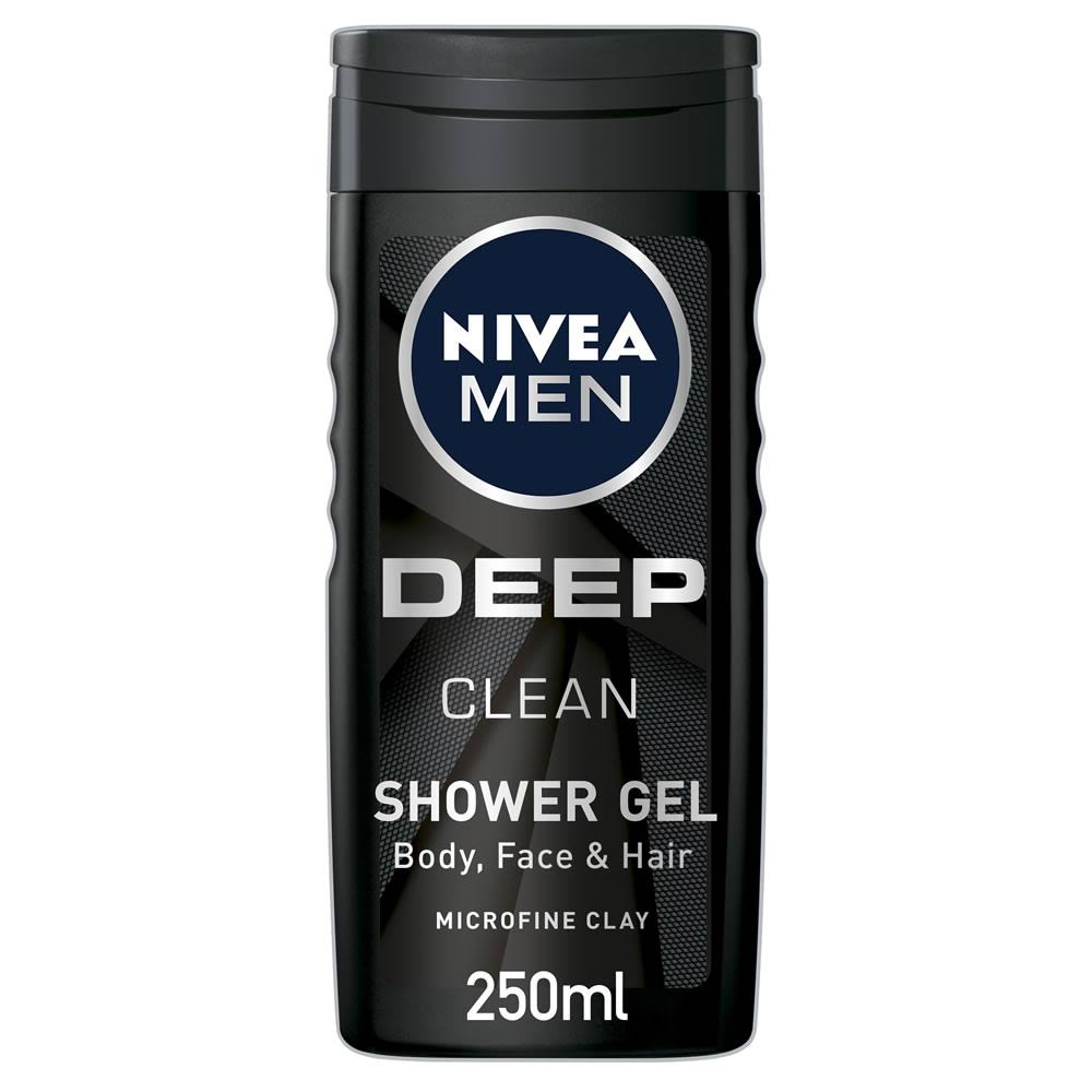 Nivea Men Shower Gel - Deep Clean, 250ml