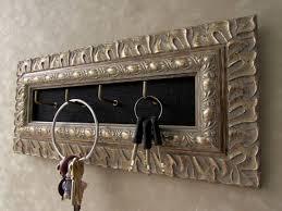 antique silver key holder ornate key holder wall mounted key