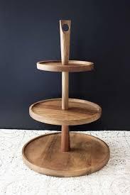 3 Tiered Acacia Timber Cake Stand
