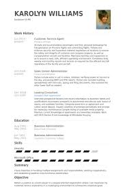 Customer Service Agent Resume Samples