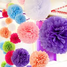 Diy Multi Colour 12 30cm 5pcs Paper Flowers Kissing Ball Wedding Home Birthday Party Car