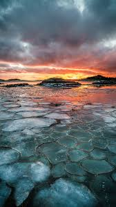 Sunset And Sea Ice