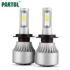 partol s2 cob h7 led headlight 72w 8000lm car led h11 h1 h3