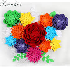 Online Cheap Xinaher Diy Multi Colour 15cm 20cm 30cm 3d Simulation Of Wedding Paper Flowers Birthday Decoration Parties By Goodwork