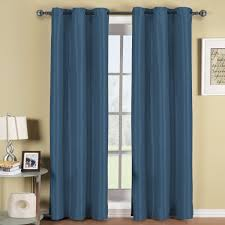 Living Room Navy Blue And White Curtains Luxury Window