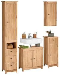 home affaire badmöbel set westa set 4 tlg aus hochschrank waschbeckenunterschrank unterschrank hängeschrank aus massivholz kiefernholz