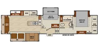 Fifth Wheel Bunkhouse Floor Plans by 2015 Coachmen By Forest River Chaparral Fifth Wheel Series M 390