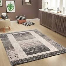 wohnzimmer teppich in klassisches design braun beige grau