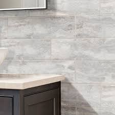 Nature 4 In X 8 In Glass Subway Tile In CALACATTA Beveled Glossy