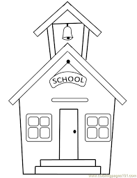 Fresh School House Coloring Page 74 In Free Colouring Pages With