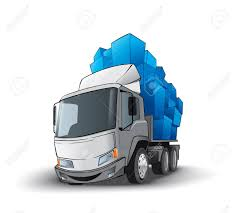 Funny Truck Whith Gifts Royalty Free Cliparts, Vectors, And Stock ...