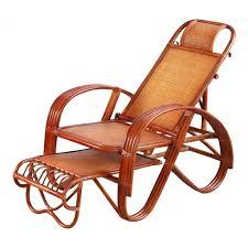 Amazon.com: SELCNG Reclining Chair, Real Rattan, Rocking ...