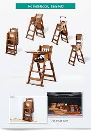 High Chairs Baby Child Eat Wood Folding Chair Seat Multifunctional Portable  Baby Chair Solid Wood Portable Folding Chair