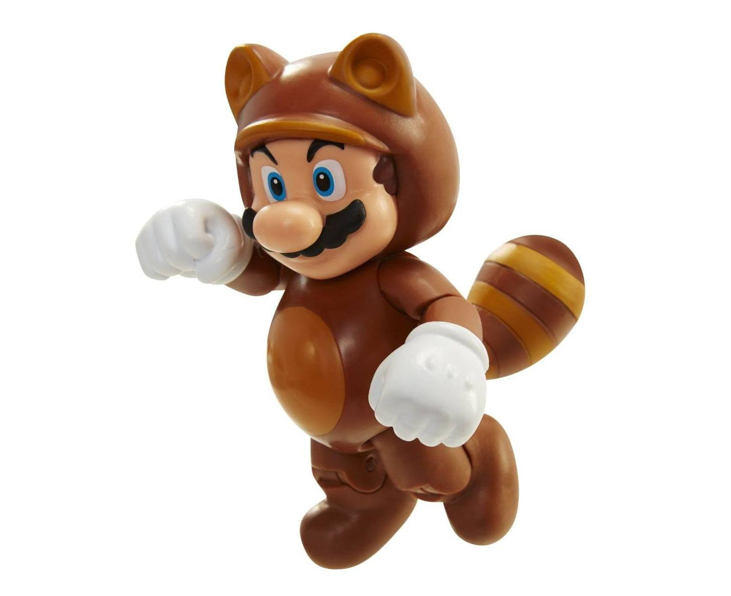 Jakks Pacific World of Nintendo Raccoon Mario with Leaf Action Figure - 4""