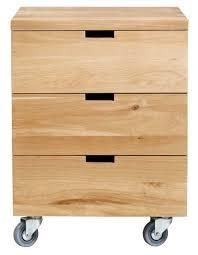 caisson bureau caisson billy oak bureau d ethnicraft 3 tiroirs