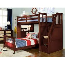 Fascinating Bunk Bed With Stairs And Desk Twin Over Full Bunk Bed