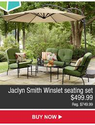 Jaclyn Smith Patio Furniture Umbrella by Kmart Patio Furniture U0026 Décor For Any Budget Milled