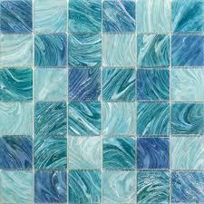splashback tile aqua blue sky mesh mounted squares 11 3 4 in x 11