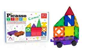 Magna Tiles Amazon Uk by Picasso Tiles 3d Magnetic Building Block Sets Groupon
