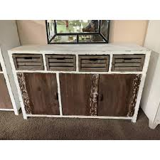 heine home sideboard antik finish shabby chic massivholz