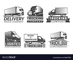 100 Trucking Company Logo Transportation Logo Silhouette Of Truck Various Vector Image