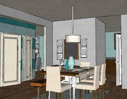 Modern Dining Room Horizontal Stripe Wall