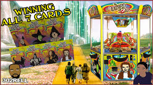 Coin Dozer Halloween Hack by Winning All 7 Cards Wizard Of Oz Coin Pusher Arcade Machine Game