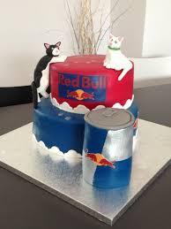 a cake for a redbull addict and cat lover motivtorten ohne