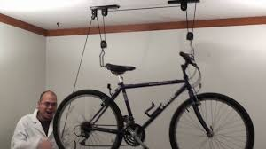 Racor Ceiling Mount Bike Lift Instructions by Bike Hoist How To Use By Rad Cycle Products Youtube