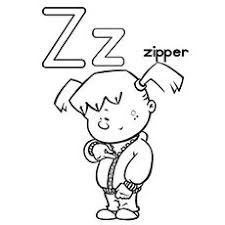 Letter Z For Zipper Coloring Page
