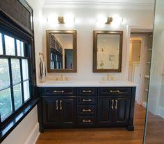 Bathroom Vanities Jacksonville Fl by Custom Dual Sink Bathroom Vanity In White With Louvered Doors