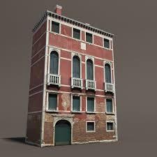 Venice Building 133 Low Poly Building 3D Model In Buildings 3DExport