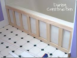 Tiling A Bathtub Skirt by Adding Molding To A Bathtub Totally Doing This In My Bathroom