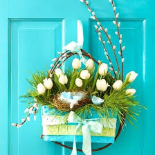 Sophisticated Easter Door Decoration And Spring Decorations