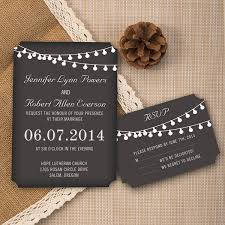 Affordable Rustic Chalkboard Ticket Shaped Wedding Invites