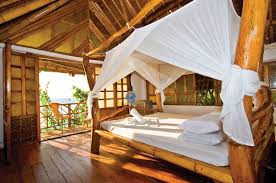 Romantic Tropical Bungalow With Ocean View Four Post Bed