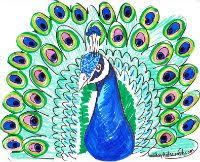 Peacock Craft Printable Template For Could We Modify The Feathers With Shaving Cream Paint