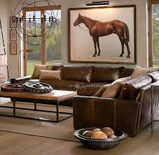 Restoration Hardware Lancaster Sofa Leather by 1111 Best Leather Sectional Sofas Images On Pinterest Leather