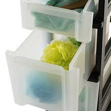 iris nischenwagen schubladenschrank rollwagen rollcontainer new slim chest nsc 203 mit rollen für küche badezimmer kunststoff schwarz