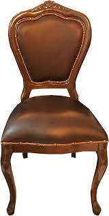 casa padrino barock luxus echtleder esszimmer stuhl braun braun handgefertigte möbel mit echtem leder barockgroßhandel de