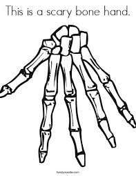 This Is A Scary Bone Hand Coloring Page