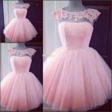 cute short pink homecoming prom dresses puffy tulle little pretty