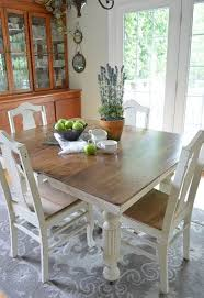 Chalk Paint Grandmas Antique Dining Table And Chairs