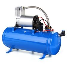 Car Truck Train 6 Liter Tank Air Compressor 4-Trumpet Horn Kit ... Emax Premium Series 30 Gal 13 Hp V4 Truck Mount Stationary Gas Air Compressor For Trucks With Cummins Nhc 250 Diesel Engine Used Puma At Texas Center Serving In Bed Best Resource Mini Parts Market March 2011 Photo Image Gallery Wabco Semi Big Machine Lp 12 Honda Gx390 Gallon On Board Compressor Mounted To Truck Frame 94 Gmc Pinterest Using An In A Vehicle Gast Double Head Air 120 240 Volt 1770 Sold For Sale Dealer 954