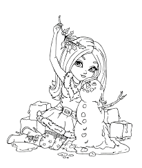 This Lineart Was Made For Posing Ref From An Old Xmas Picture With Lost Link